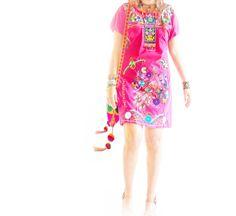 La Rosa Mexicana ethnic embroidered dress