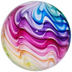 "Mark Matthews 3 1/8"" Rainbow Lobe Contemporary Art Glass Marble - A Beauty from a Master Marble Maker! <3WOW!<3VIBRANT!<3bEAUTIFUL!<3STUNNING!<3 @"