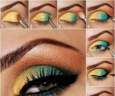 Liquid Eyeshadow Makeup Tutorial into Eye Makeup Step By Step For Party Hazel Eye Makeup, Smoky Eye Makeup, Eye Makeup Steps, Makeup For Brown Eyes, Eyeshadow Makeup, Eyeliner, Liquid Eyeshadow, Green Makeup, Colorful Eye Makeup