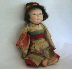 Petite Japanese Ichimatsu Play Doll from joan-lynetteantiquedolls on Ruby Lane