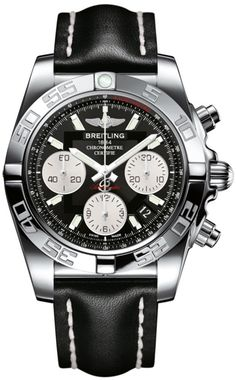 @breitling Watch Chronomat 41 #bezel-unidirectional #bracelet-strap-leather…