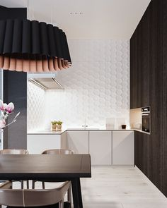 Roohome.com - Havingstylish apartment interior design will make you very happy and enthusiasm. It does not only make you feel comfortable but also that is the best welcoming for your friend or partner. This room is applying black and white color paint. It looks so elegant and does not make ...