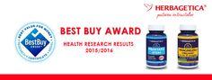 2 dintre produsele Herbagetica premiate- Best Buy Award