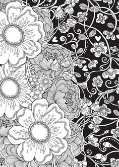 BLISS Flowers Coloring Book: Your Passport to Calm -- 5 sample pages