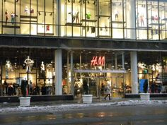 H&M in NYC, where you won't see yourself coming and going!  Lots of new Designers