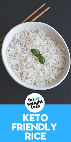 Keto friendly rice, otherwise known as konjac rice, is the perfect substitute for rice on the ketogenic diet. It's full of fiber, super low in net carbs (because its high in fiber) and tastes absolutely amazing in comparison to cauliflower rice. #carbs #ketorecipe Sugar Free Recipes, Low Carb Recipes, Healthy Recipes, Healthy Foods, Easy Recipes, Ketogenic Recipes, Ketogenic Diet, Rice Carbs, High Fat Foods