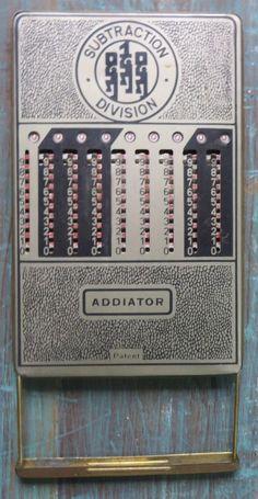 Rarts Mechanical Slide & Rotary Adders Addiator ANTIQUE Calculator brass V fine