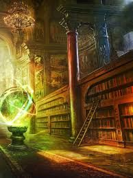 Image result for magical library