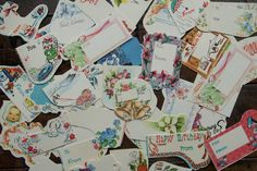 Gift Tags ~ Assorted Vintage Lot of 40 ~ Unused ~ All Occasion ~ Birthday, Shower, New Baby, Etc. by smileitsvintage on Etsy