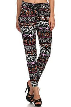 La Sexy Women Girls Lady Floral Print Stretchy Flared Pleated Casual Mini Skirt 87 % Polyester + Spandex, stretchy and comfo. Aztec Leggings, Floral Leggings, Printed Leggings, Leggings Are Not Pants, Fashion Tips For Women, Womens Fashion, Footless Tights, Women's Fashion Leggings, Sexy Skirt