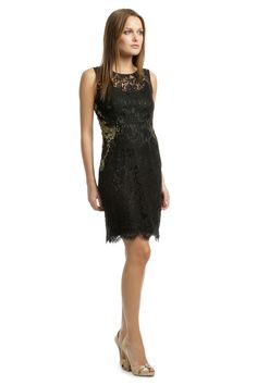 Rent Gold Infused Lace Sheath by Elie Tahari for $35 only at Rent the Runway.