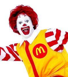 Ronald McDonald is a clown character used as the primary mascot and, as of Chief Happiness Officer of the McDonald's all-American restaurant chain. I love Mac Donalds and Ronald is the coolest person in the world. Hamburglar Costume, Mcdonalds Funny, Famous Clowns, Library Humor, Vintage Clown, Red Hair Don't Care, Character Makeup, Clowning Around, American Restaurant