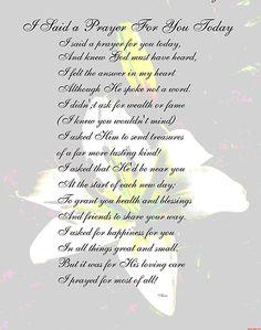 Prayer for My Friend Poem | MaeBelle › Portfolio › I Said a Prayer For You Today