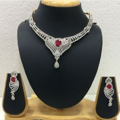 Buy #American Diamond Necklace, #Polki #Necklace, #Kundan Necklace, Gold Plated Necklace online at best #price. Visit www.imitationjewelleryonline.com