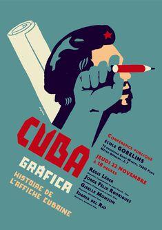 Conférence sur l'histoire de l'affiche cubaine en compagnie de trois graphistes, Idania del Rio, Giselle Monzon et Jorge Félix Rodriguez.