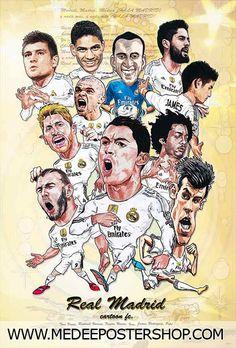 Real Madrid Cartoon 2016