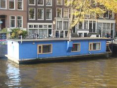 A beautiful house boat in the center of Amsterdam  www.thebluehouseboat.com