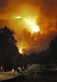 Forest fire in Spain.
