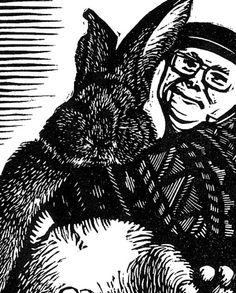 Big Bunny Linocut