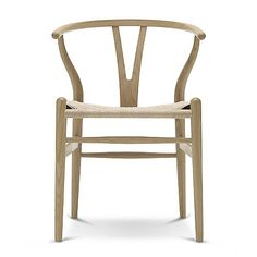 haus® is official stockist of all Carl Hansen & Søn furniture. Wegner designed the Wishbone chair for Carl Hansen & Søn in Chaise Design Pas Cher, Wooden Dining Chairs, Rattan Chairs, Dining Room, Furniture Chairs, Dining Area, Natural Weave, Natural Brown, Danish Design Store