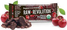 Raw Revolution Organic Cherry Chocolate Chunk Bar 0.8 oz (22 g)
