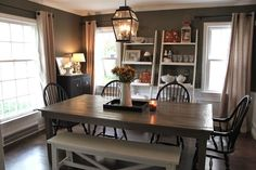 This Dining room is beautiful. I'd love to create a smaller version of this in our little space / The Fat Hydrangea: Fall Dining Room Decor