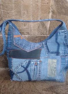 Cute upcycled jeans bag