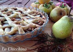 La Chicchina: Crostata con pere, noci e confettura di susine
