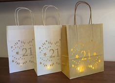 21st Birthday decorations, lantern bags make great table centrepieces or to mark an entrance or just for lovely ambience by Baloolahbunting