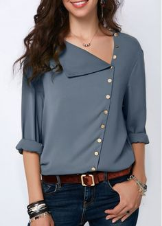 Stylish Tops For Girls, Trendy Tops, Trendy Fashion Tops, Trendy Tops For Women Stylish Tops For Girls, Trendy Tops For Women, Blouses For Women, Blouse Styles, Blouse Designs, Sleeve Designs, Mode Outfits, Fashion Outfits, Womens Fashion