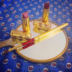 Just received my 4th of July sale items from #besamecosmetics!! So glad they restocked Dusty Rose and Merlot for the holiday! #vintagemakeup #lipstick #besame
