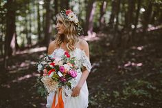 Bright Wedding Bouquet of Dahlias, Peonies, and Daisies | Brides.com