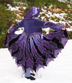 Custom - Upcycled, Recycled, Gypsy Sweater Coat, Gypsy Travelling Coat, Renaissance, Mardi Gras, Bohemian, Burning Man,  Elven Hood on Etsy, $415.00
