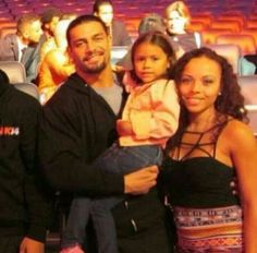 Roman Reigns, fiancée Galina Becker and daughter Jojo Roman Reigns Shirtless, Wwe Roman Reigns, Roman Reigns Family, Roman Reigns Dean Ambrose, Wwe Live Events, Roman Regins, Wwe Superstar Roman Reigns, Wwe Couples, Best Wrestlers