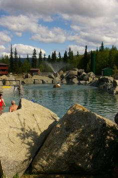 Chena Hot Spring, Alaska.  The water is hot and its easy to become overheated!  But, its a wonderful place.