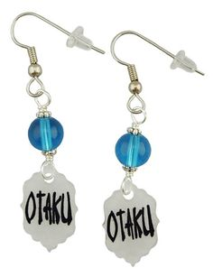Otaku Earrings | Unique Creations by Amy | Funky handmade jewelry... Otaku is Japanese for Nerd. In Japanese culture it has the same (or very similar) connotations that nerd did here 40 years ago. However since we have embraced our nerd power it is used to describe someone that is an Anime and/or Manga nerd. A title we are PROUD of and wave our nerd flag high.--- OMG These Are So Cute!
