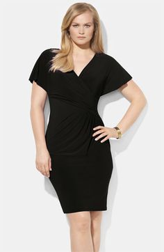 Lauren by Ralph Lauren Gathered Matte Jersey Sheath Dressavailable at #Nordstrom