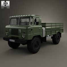 GAZ-66 Flatbed Truck 1964 3d model from humster3d.com. Price: $75
