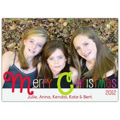 Candy Colored Christmas Photo Cards