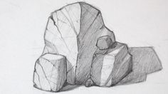 how to draw realistic rocks Landscape Sketch, Landscape Drawings, Drawing Rocks, Painting & Drawing, Ink Pen Drawings, Drawing Sketches, Sketching, Draw Realistic, Art Tutorials