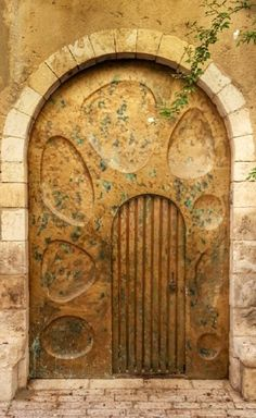 Doorway in Jerusalem, Israel Cool Doors, Unique Doors, Portal, Knobs And Knockers, Door Knobs, Entrance Doors, Doorway, Naher Osten, When One Door Closes