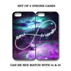 Custom Mint Purple Nebula BFF Best Friends iPhone Case -2 iPhone 4 / 4S/ 5 Cases me-5 Emieligh-4