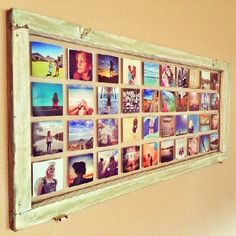 Learn how to make this photo print display using an antique window!
