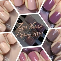 Zoya Naturel Nail Polish Collection - Swatches & Review