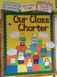 Our class charter classroom display bulletin board