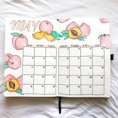I know it's not May anymore but I couldn't resist this peachy spread by 🍑🌿 swipe for the close ups! Bullet Journal School, Bullet Journal Inspo, Bullet Journal Headers, Bullet Journal Month, Bullet Journal Lettering Ideas, Bullet Journal Notebook, Bullet Journal Aesthetic, Bullet Journal Layout, Bullet Journal Ideas Pages