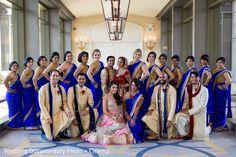 Indian couple, bridesmaids and groomsmen photography before wedding ceremony http://www.maharaniweddings.com/gallery/photo/108035 @vijayrakhra @fairmonthotels