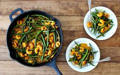 The Wheatless Kitchen | Coconut Curry Shrimp   Green Beans | http://www.thewheatlesskitchen.com