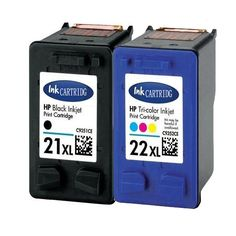 2 Ink Cartridge for Compatible HP 21 22 XL hp21 22 For DeskJet 3910 3915 3918 3920 3930 3930v 3938 3940 3940v D1311 D1330 D1341