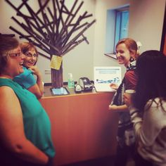 One of our favorite discipleship moments yesterday; passing along the tips and tricks of the kids checkin system. Our volunteers make us proud every week.